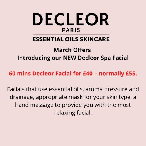 March Offers Decleor Facial (2)
