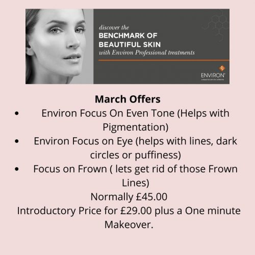 March Offers Environ Focus On